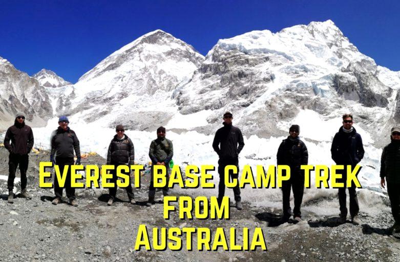 Mount Everest base camp trek from Australia