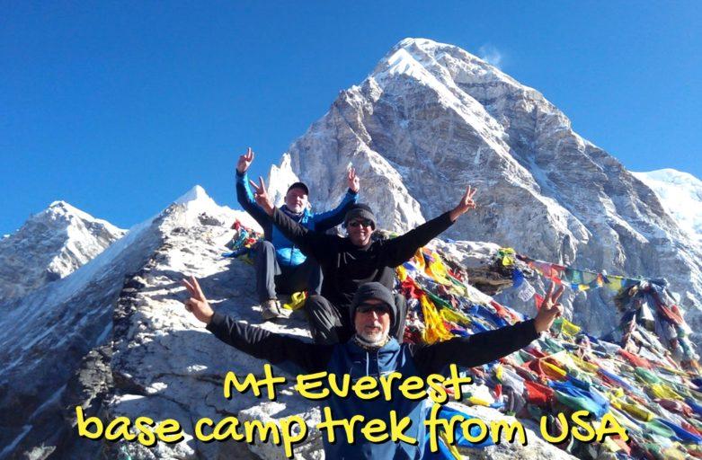 Mount Everest base camp trek from United States