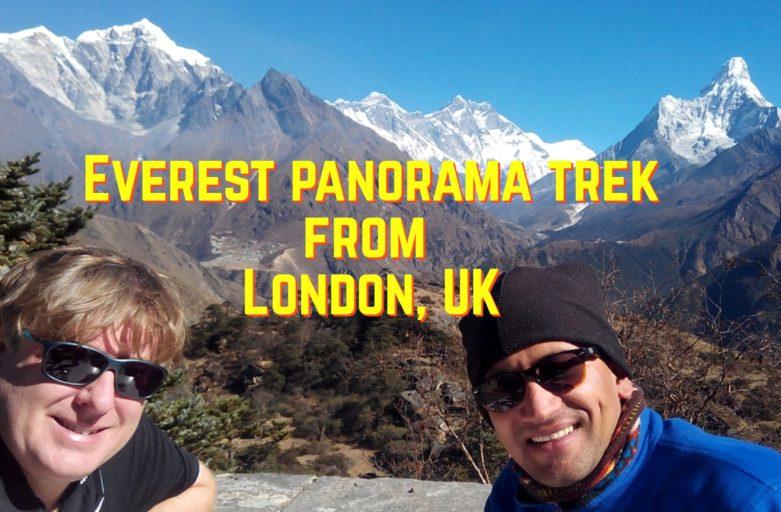 Most popular Everest base camp trek from United Kingdom