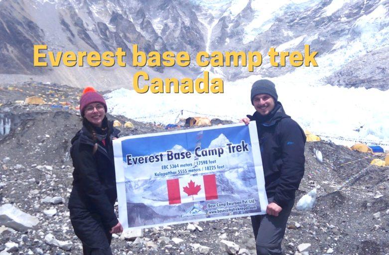 Mount Everest base camp trek from Canada
